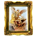 St. Michael 3x2 Antique Gold Frame