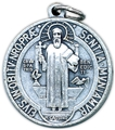 "St. Benedict Jubilee (1"" silver oxidized)"