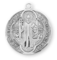 "St. Benedict 1.1"" Round Jubilee Sterling Silver Medal"