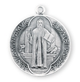 "St. Benedict 1.5"" Round Jubilee Sterling Silver Medal"