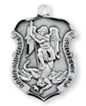 "St. Michael 1.2"" Sterling Silver Badge Medal"