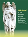 St. Michael short exorcism prayer card