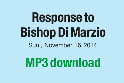 Response to Bishop Di Marzio